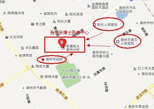 考中心地图标志