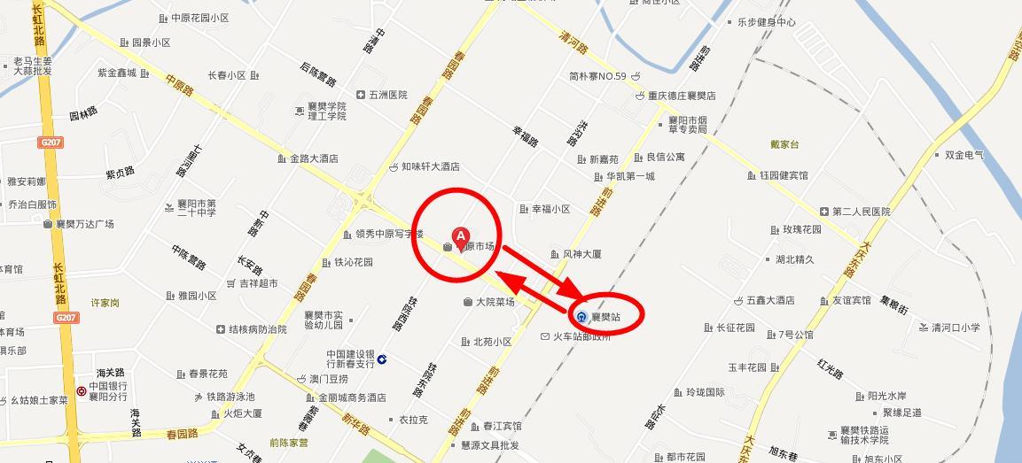 湖北襄阳分校平面地图